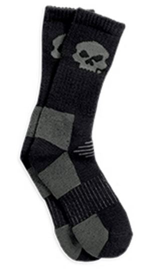Chaussettes pour Hommes Tricotées Willie G Skull Harley-Davidson®