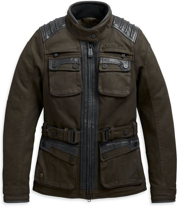 Veste pour Femmes en Toile & Denim Chippewa Falls Stretch Riding Harley-Davidson®