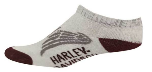 Chaussettes pour Femmes basse Harley-Davidson® Low Cut Wing Performance Wicking Riding - Blanche
