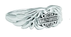 Bagues pour Femmes Classic Double Wing Bar and Shield Harley-Davidson
