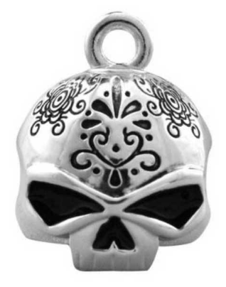 Ride Bell pour Femme  Day Of The Dead Finit Silver Harley-Davidson