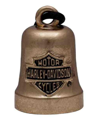 Ride Bell pour Homme Bar and Shield Finit Gold Tone Harley-Davidson