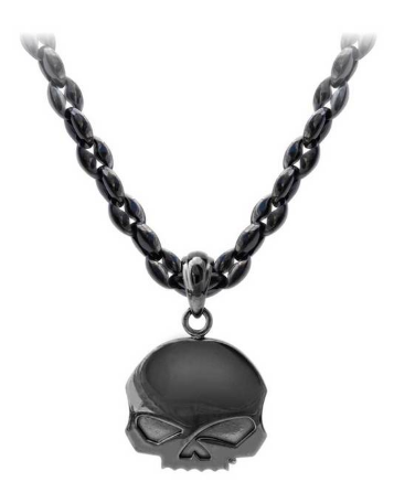 Chaines pour Hommes Blackout Willie G Skull Stainless Steel Harley-Davidson