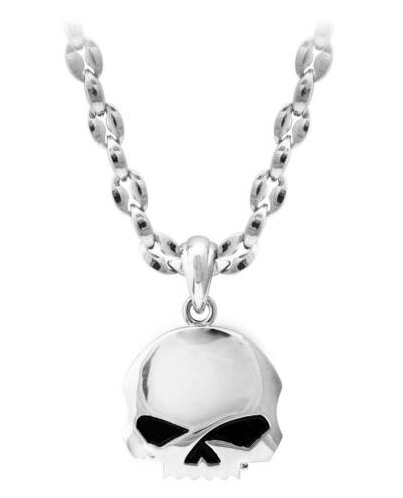Chaines pour Homme Willie G Skull Argent Stainless Steel Harley-Davidson