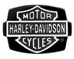 Bagues pour Hommes Bar and Shield Black Steel Stone Signature Ring Harley-Davidson