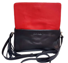 Load image into Gallery viewer, Black Leather Crossbody Bag