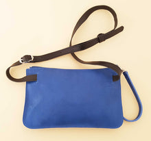 Load image into Gallery viewer, Blue Leather Belt Bag