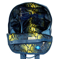 Load image into Gallery viewer, City Women's Blue Leather Backpack