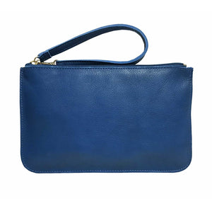 Blue Leather Belt Bag