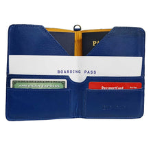 Load image into Gallery viewer, Blue Leather Passport Holder