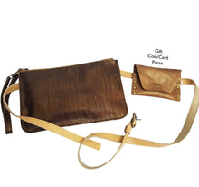 Load image into Gallery viewer, Bronze Metallic Leather Belt Bag