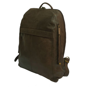 Men's Brown Leather Backpack