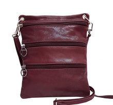 Load image into Gallery viewer, Burgundy Leather Pouch