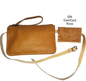 Camel Leather Belt Bag