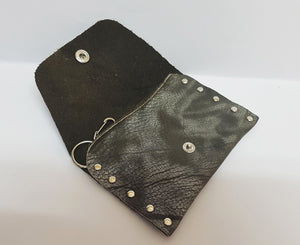 Clip-on Camouflage Leather Coin Purse