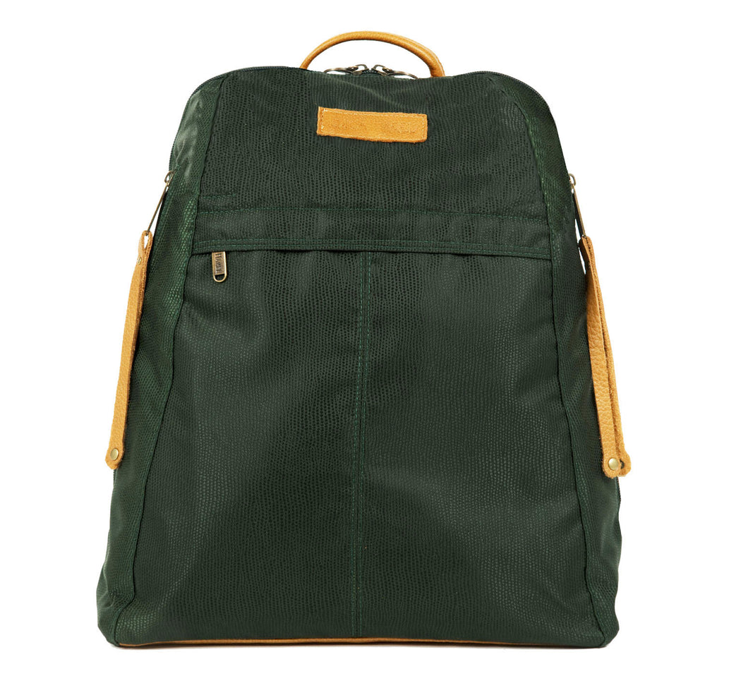 Men's Nylon and Leather Backpack