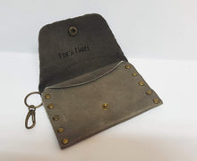 Load image into Gallery viewer, Safari Gray Leather Coin Purse