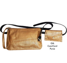 Load image into Gallery viewer, Gold Metallic Leather Belt Bag