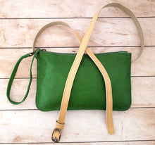 Load image into Gallery viewer, Green Leather Belt Bag