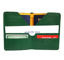 Load image into Gallery viewer, Green Leather Passport Holder
