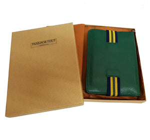 Green Leather Passport Holder
