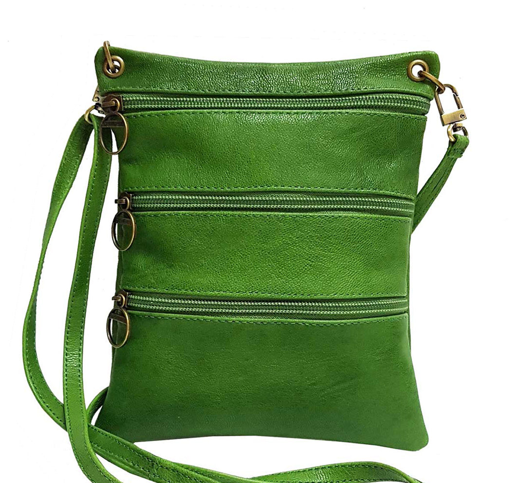 Green Leather Pouch