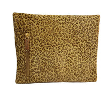 Load image into Gallery viewer, Leopard Hair on Hide Leather Clutch