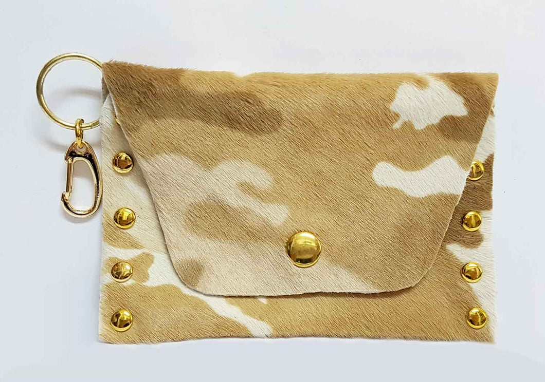 Hair on Hide Clip-on Leather Coin Purse