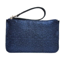 Load image into Gallery viewer, Iridescent Blue Leather Belt Bag