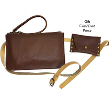 Load image into Gallery viewer, Pebbled Brown Leather Belt Bag