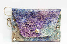 Load image into Gallery viewer, Purple Sea Leather Coin Purse