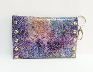Purple Sea Leather Coin Purse