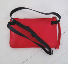 Load image into Gallery viewer, Red Leather Belt Bag