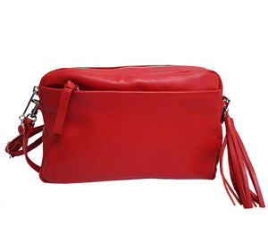 Red Leather Crossbody Bag