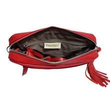 Load image into Gallery viewer, Red Leather Crossbody Bag