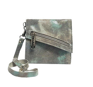 Metallic Silver Leather Wallet