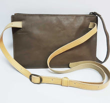Load image into Gallery viewer, Taupe Leather Belt Bag