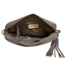 Load image into Gallery viewer, Taupe Leather Crossbody Bag
