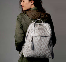 Load image into Gallery viewer, City Woman Taupe Python Leather Backpack