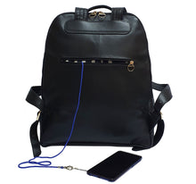 Load image into Gallery viewer, City Woman Tweed Leather Backpack
