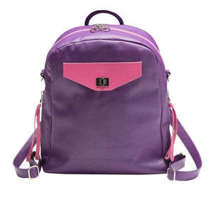 Purple Leather Convertible Backpack