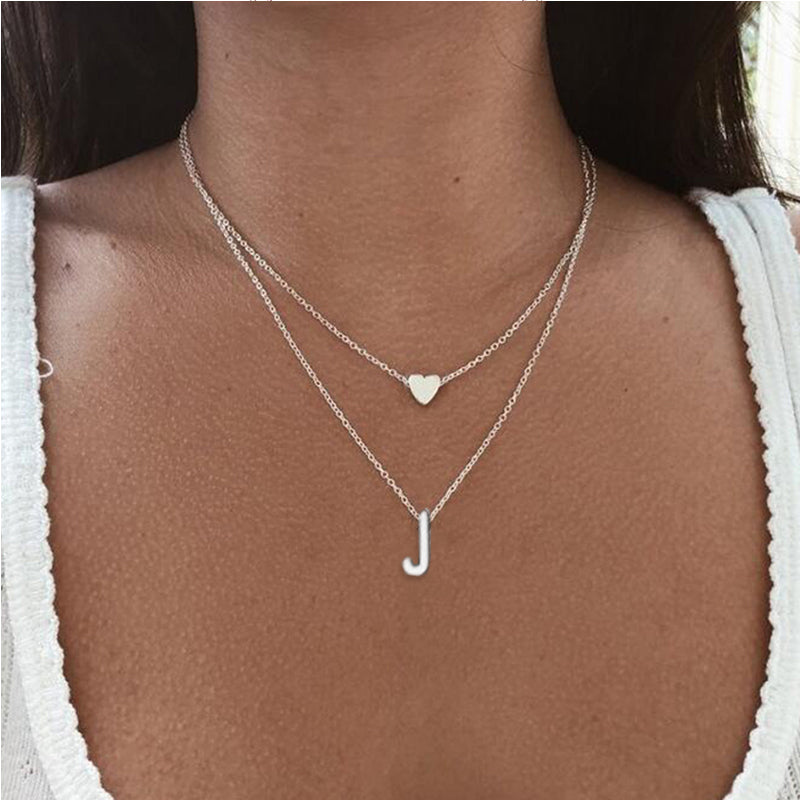 Hfarich Fashion Double layer Choker and Long Chain Necklace Women 2020