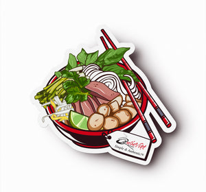 Limited Edition Quoc Viet Foods Pho Bowl Sticker