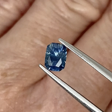 Load image into Gallery viewer, 0.78ct Medium Blue Radiant Cut Sapphire