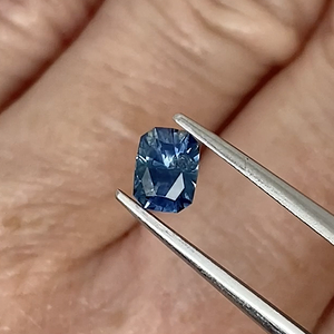 0.78ct Medium Blue Radiant Cut Sapphire