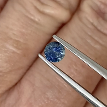 Load image into Gallery viewer, 0.39ct Medium-Dark Blue Round Sapphire