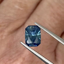 Load image into Gallery viewer, 1.34ct Medium-Dark Blue Radiant Cut Sapphire