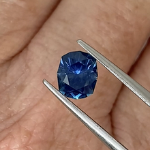 Load image into Gallery viewer, 1.5ct Medium-Dark Blue Cushion Sapphire