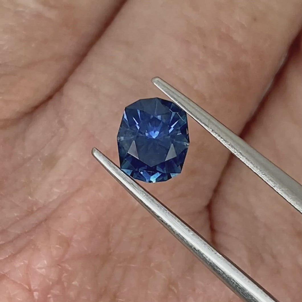 1.5ct Medium-Dark Blue Cushion Sapphire