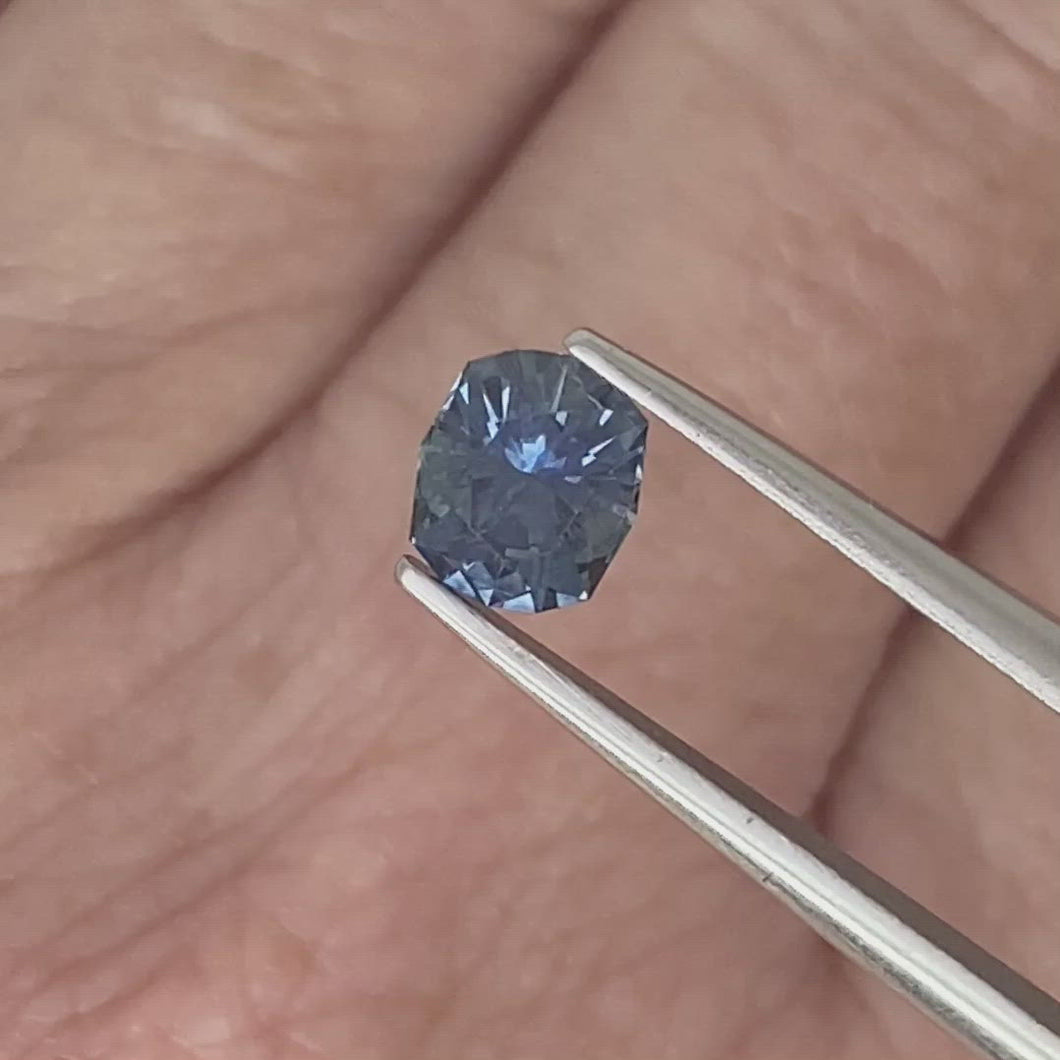 0.90ct Medium-Dark Blue Cushion Sapphire